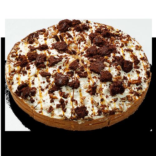 Caramel & Brownie cream pie