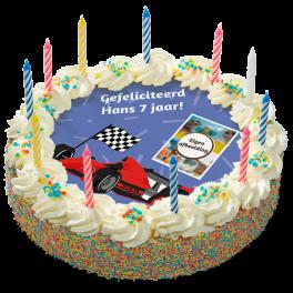 "Kinderslagroomtaart ""Raceauto"""