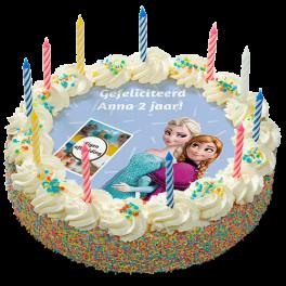 """Kinderslagroomtaart """"Frozen"""""""