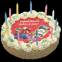"""Kinderslagroomtaart """"Mario"""""""