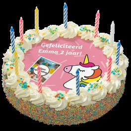 """Kinderslagroomtaart """"Unicorn"""""""
