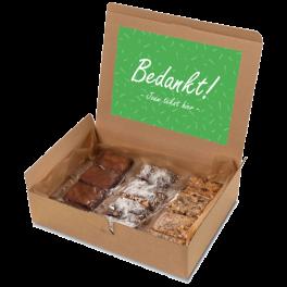 "Brownie box ""Bedankt!"""