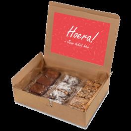 "Brownie box ""Hoera!"""