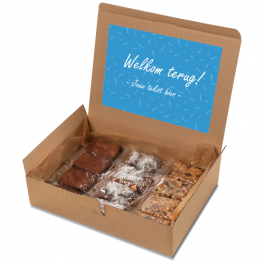 """Brownie box """"Welkom terug!"""""""