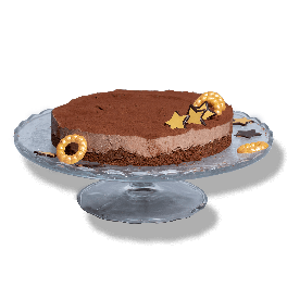 Kerst chocolade bavarois taart