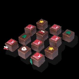 "Chocolade Petit fours ""Kerst"""