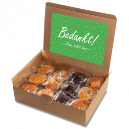 """Muffin box """"Bedankt!"""""""