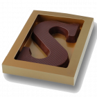 """Chocoladeletter S """"Puur"""""""