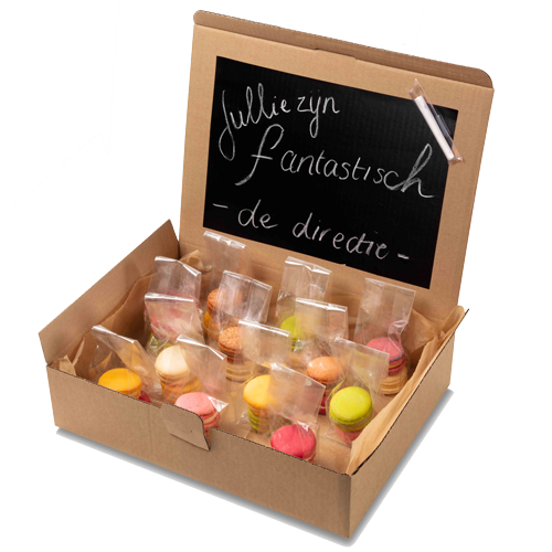 "Image of Macaron box ""Schoolbord"""
