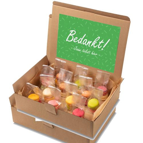 "Image of Macaron box ""Bedankt!"""