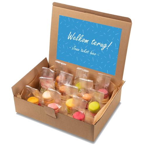 "Image of Macaron box ""Welkom terug!"""