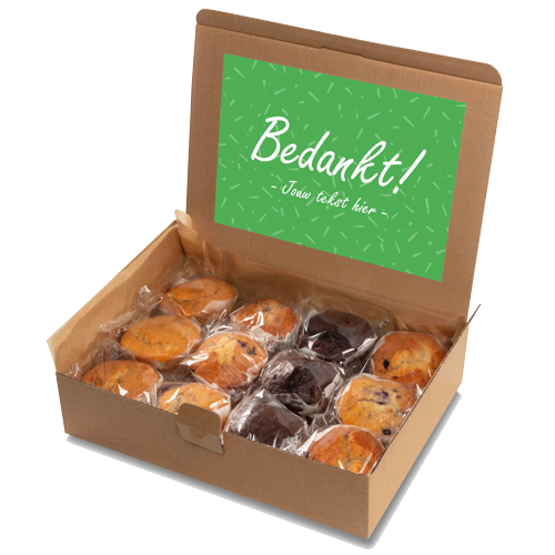 """Image of Muffin box """"Bedankt!"""""""