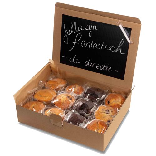 "Image of Muffin box ""Schoolbord"""