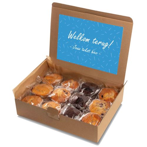 """Image of Muffin box """"Welkom terug!"""""""